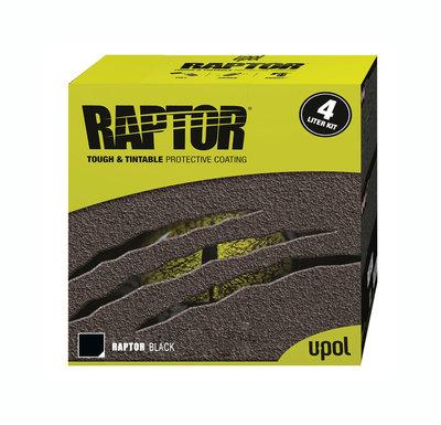 Чёрный RAPTOR U-POL 3,8л. комплект