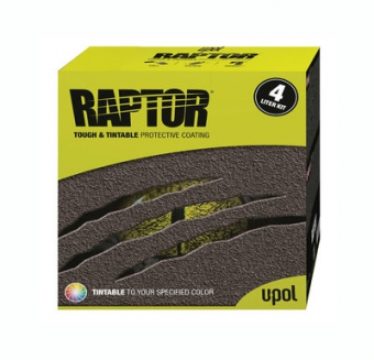Колеруемый RAPTOR U-POL 3,8л. комплект